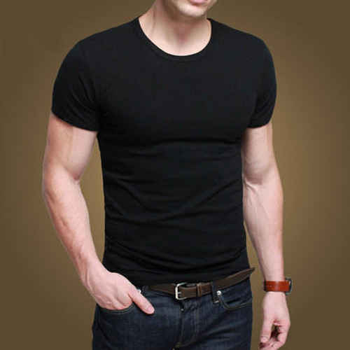 Men's Plain Black T-Shirt